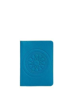Бумажник водителя FABULA. Цвет: голубой