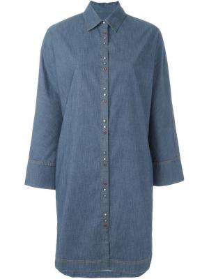 Свободная блузка Cristiano Burani. Цвет: синий
