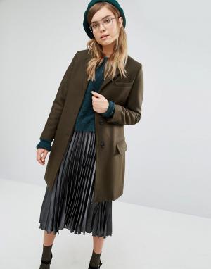 Gloverall Классическое пальто Chesterfield. Цвет: зеленый