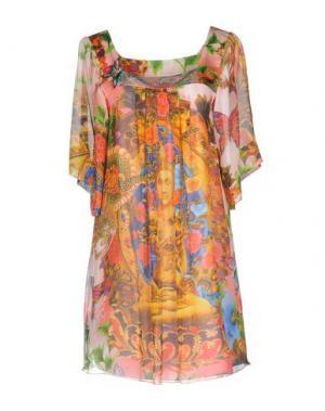 Короткое платье MANUEL LUCIANO. Цвет: желтый