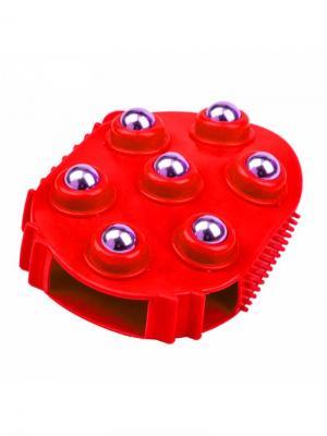 Массажер механический RUGES. Цвет: красный