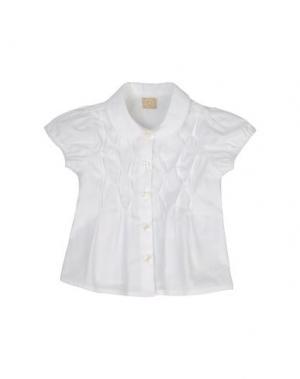 Рубашка с короткими рукавами AMORE. Цвет: белый