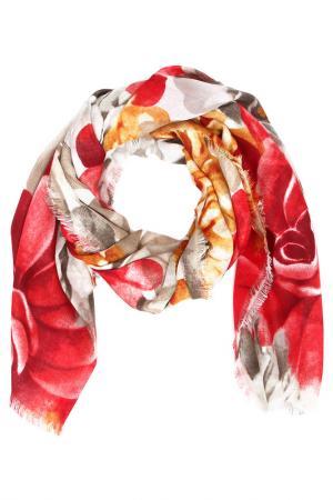 Платок F.FRANTELLI. Цвет: бордо, рыжий, серый