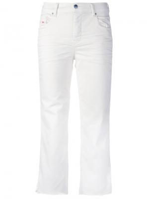 Укороченные джинсы Diesel. Цвет: красный