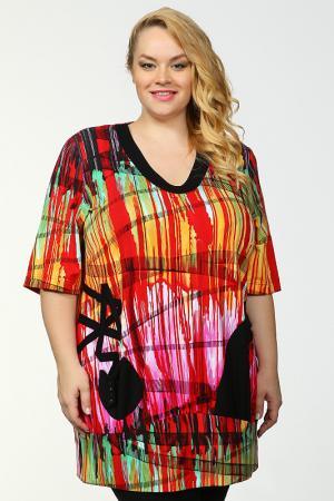 Блуза Sempre Piu. Цвет: цветной