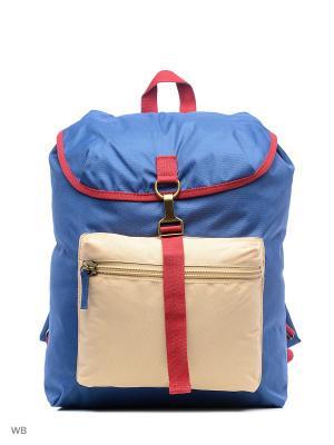 Рюкзак United Colors of Benetton. Цвет: синий, светло-бежевый
