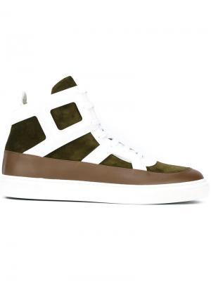 Хайтопы на шнуровке Louis Leeman. Цвет: зелёный