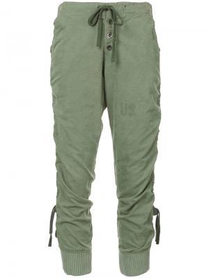 Спортивные брюки Greg Lauren. Цвет: зелёный