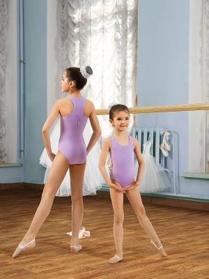 Купальник для девочек Arina Ballerina. Цвет: лиловый