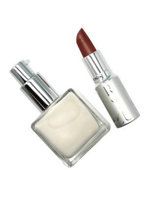 Набор декоративной косметики YLLOZURE. Цвет: светло-коричневый, белый, бордовый