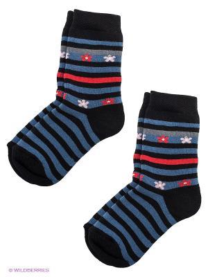Носки, 2 пары Totall. Цвет: синий, красный, черный