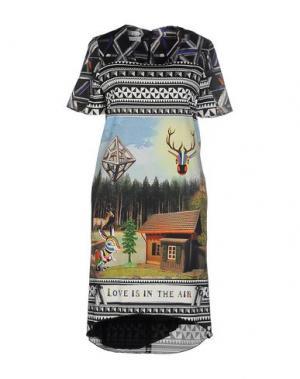 Платье до колена LEITMOTIV. Цвет: черный