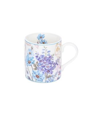 Кружка - подарок Цветочное настроение Elan Gallery. Цвет: голубой, белый