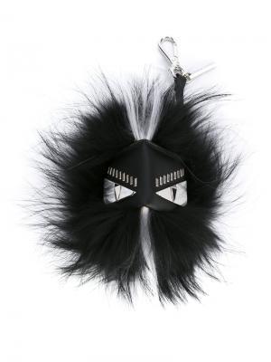Брелок с перьями Fendi. Цвет: чёрный