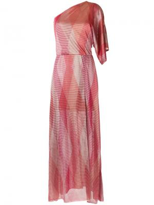 One shoulder knit dress Cecilia Prado. Цвет: розовый и фиолетовый