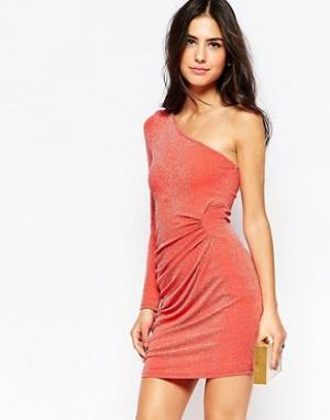 Jessica Wright Облегающее платье Kyra. Цвет: оранжевый