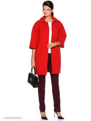 Пальто PARADOX. Цвет: красный