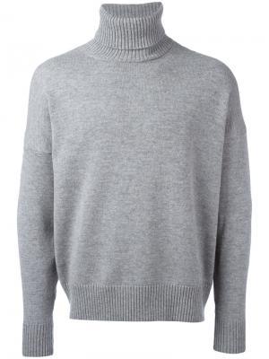 Свободный свитер-водолазка Ami Alexandre Mattiussi. Цвет: серый