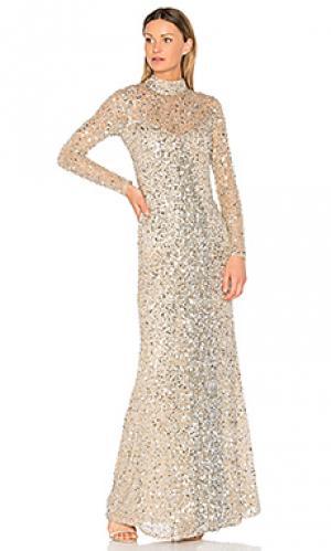 Вечернее платье leandra Parker Black. Цвет: металлический серебряный