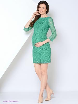 Платье Mammi. Цвет: зеленый