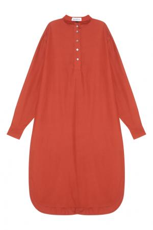 Платье-рубашка Masterpeace. Цвет: терракотовый