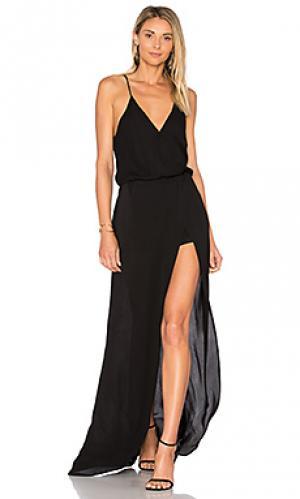 Цельное платье aculina Karina Grimaldi. Цвет: черный