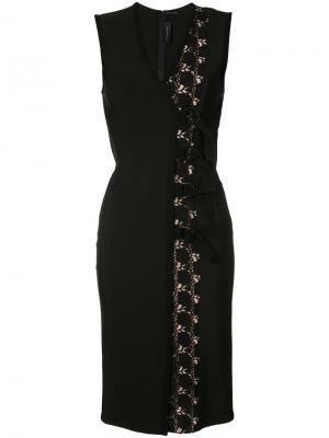 Платье шифт с ремнем Yigal Azrouel. Цвет: чёрный