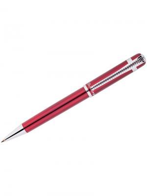 Ручка шариковая Velvet Classic Berlingo. Цвет: бордовый, серебристый, синий