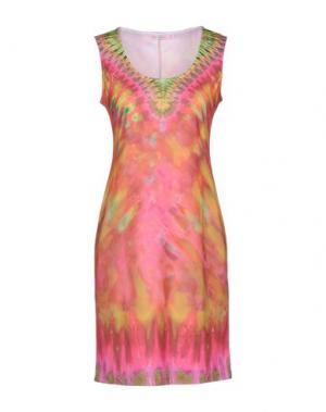 Короткое платье AGOGOA. Цвет: оранжевый