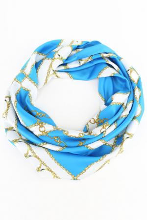 Платок F.FRANTELLI. Цвет: голубой