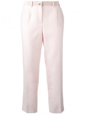 Укороченные брюки Salvatore Ferragamo. Цвет: розовый и фиолетовый
