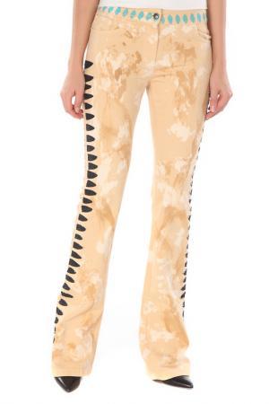 Прямые брюки с застежкой на молнию Voyage. Цвет: 0005, бежевый