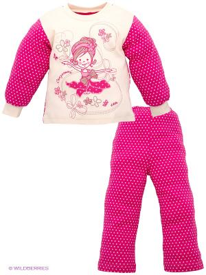 Пижама Лео. Цвет: фуксия, молочный