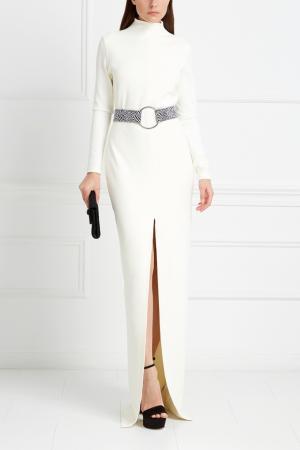 Однотонное платье Paige Maxi Solace. Цвет: молочный