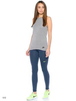 Леггинсы NP CL TIGHT Nike. Цвет: серо-голубой, желтый