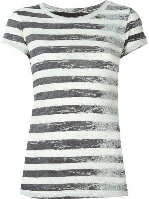 Полосатая футболка Mm6 Maison Margiela. Цвет: чёрный