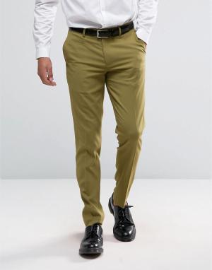 ASOS Светло-зеленые зауженные брюки. Цвет: зеленый