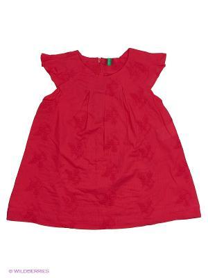 Блузка United Colors of Benetton. Цвет: красный, темно-красный
