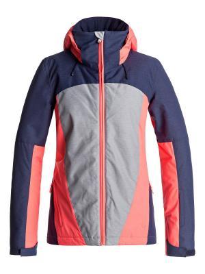Куртка сноубордическая ROXY. Цвет: светло-серый, серый, серый меланж