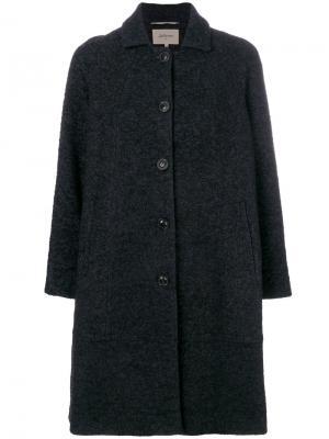 Classic buttoned coat Bellerose. Цвет: серый