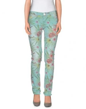Повседневные брюки OAKS. Цвет: бирюзовый