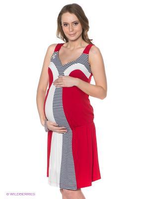 Платье MARY MEA. Цвет: красный