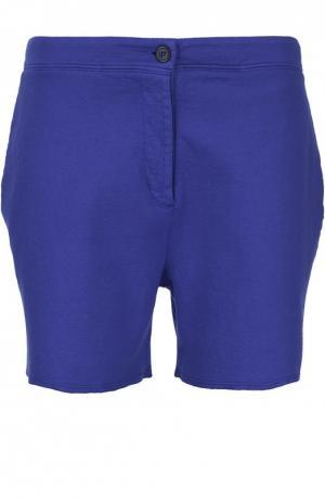 Хлопковые мини-шорты с необработанным краем Acne Studios. Цвет: синий