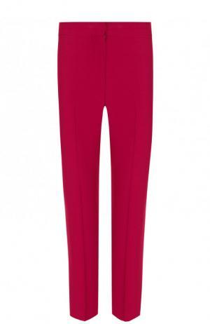 Однотонные укороченные брюки со стрелками Alexander McQueen. Цвет: лиловый