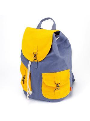 Городской рюкзак TIMBAG. Цвет: сиреневый,желтый