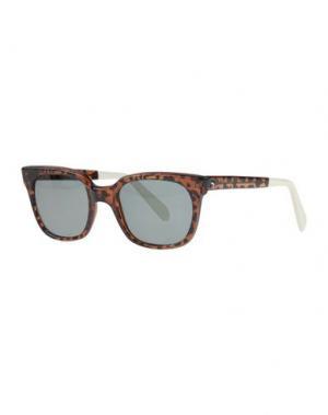Солнечные очки SHERIFF & CHERRY. Цвет: темно-коричневый