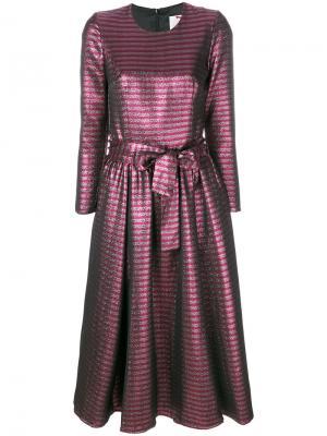 Платье с завязкой на талии Ultràchic. Цвет: розовый и фиолетовый