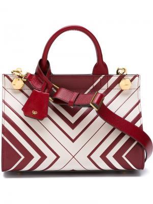 Мини сумка-тоут Diamonds Ephson Anya Hindmarch. Цвет: красный