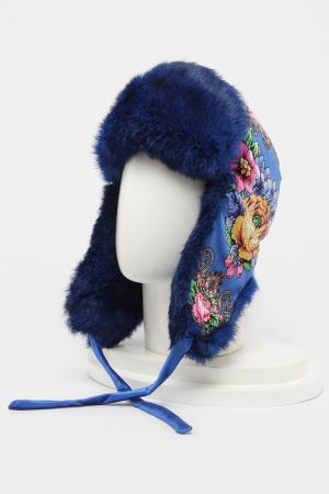 Шапка-ушанка Romax. Цвет: мех темно-синий