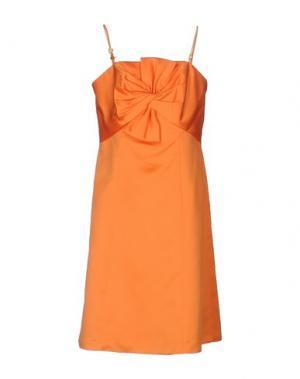 Короткое платье CARLO PIGNATELLI. Цвет: оранжевый
